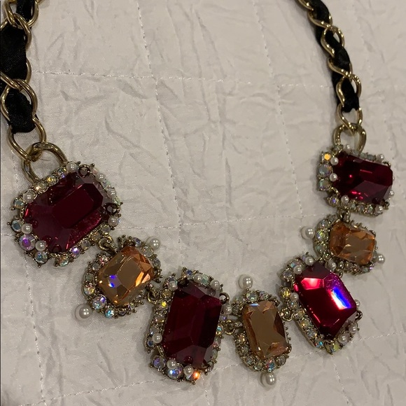 a2d50dae1bfd1 Betsey Johnson Big Rhinestone Statement Necklace